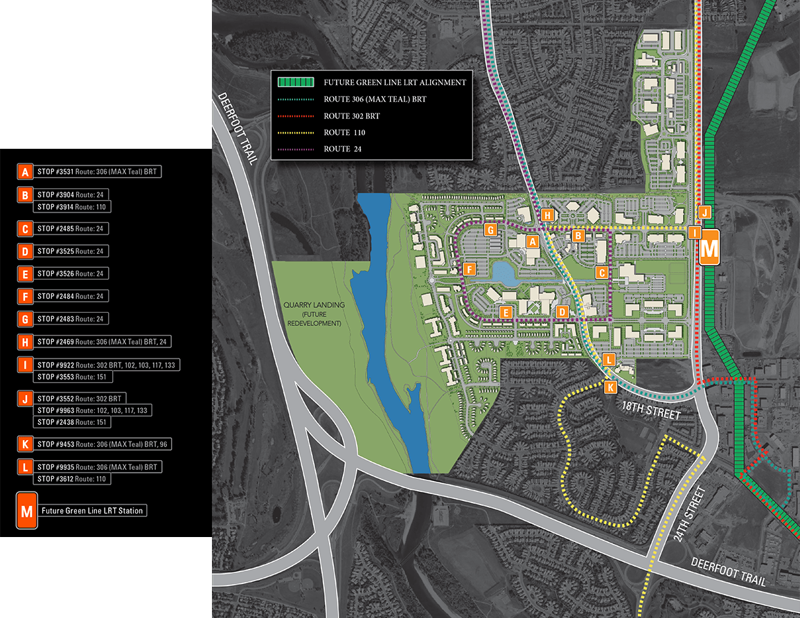 Quarry Park Transit Map